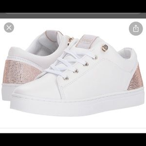 Guess white & Rose Gold Jollie Shoe